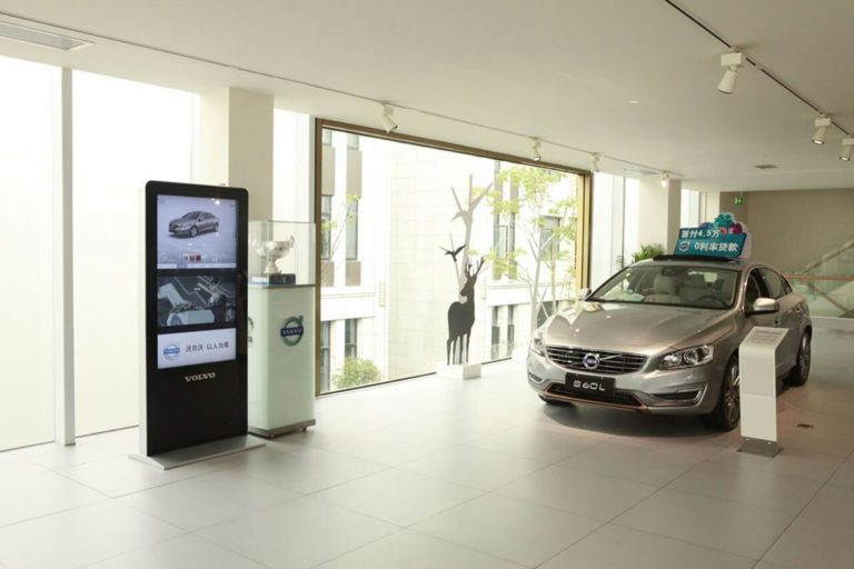 Automotive 4S store digital signage solution-Volovo-Betvis (1)