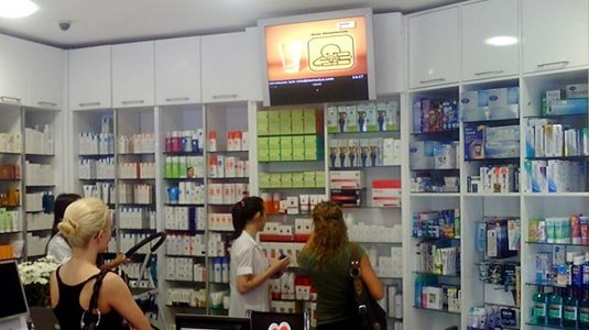 New retail chain store digital signage solution- Istanbul pharmacy Turkey-Betvis (6)