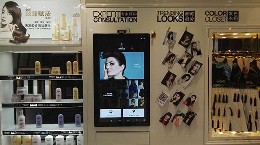 New retail interactive digital signage solution-L'ORÉAL cosmetics China-Betivs (5)