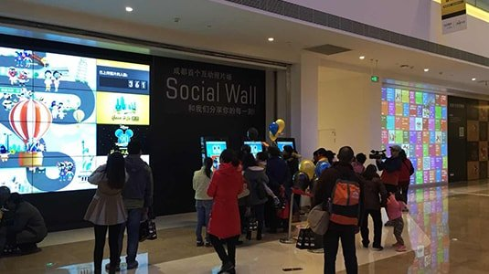 New retail shopping mall interactive social wall photo digital signage solution-CAPITAL Chengdu-Betvis (6)